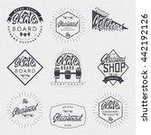 skateboard   insignia  badge ... | Shutterstock . vector #442192126