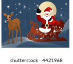santa at the northpole ... | Shutterstock .eps vector #4421968