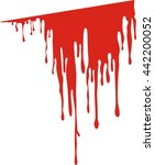 vector dripping blood. blood... | Shutterstock .eps vector #442200052