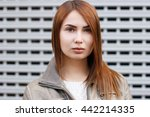 close up street portrait of an... | Shutterstock . vector #442214335