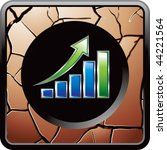 bar graph bronze cracked web...   Shutterstock .eps vector #44221564