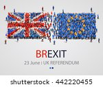 crowd or group of people in... | Shutterstock .eps vector #442220455