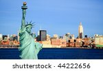 the new york city midtown...   Shutterstock . vector #44222656