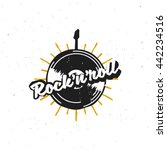 rock'n'roll retro badge with... | Shutterstock .eps vector #442234516