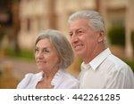 senior couple near hotel resort | Shutterstock . vector #442261285