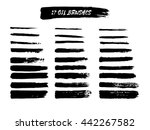 vector set of grunge brush... | Shutterstock .eps vector #442267582
