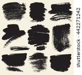 vector set of hand drawn brush... | Shutterstock .eps vector #442271242