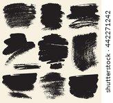 vector set of hand drawn brush... | Shutterstock .eps vector #442271242