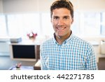 smiling man looking at camera... | Shutterstock . vector #442271785