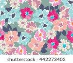 cute modern floral print  ... | Shutterstock .eps vector #442273402