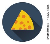 cheese icon. flat color design. ...