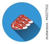 raw meat steak icon. flat color ...