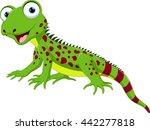 cute lizard cartoon   Shutterstock .eps vector #442277818