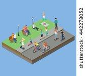 isometric park activity | Shutterstock .eps vector #442278052
