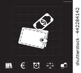 wallet with money icon | Shutterstock .eps vector #442284142