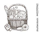 bread basket. vector... | Shutterstock .eps vector #442295962