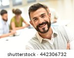 confident man in meeting room ... | Shutterstock . vector #442306732