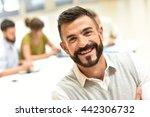 confident man in meeting room ... | Shutterstock . vector #442306732