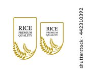 rice.vector illustration logo   Shutterstock .eps vector #442310392