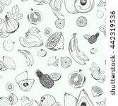 vector fruits pattern. fruits... | Shutterstock .eps vector #442319536