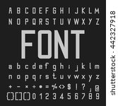 tall font and number design ... | Shutterstock .eps vector #442327918