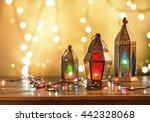 various colorful ramadan lamps... | Shutterstock . vector #442328068