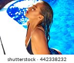 fashion photo of sexy hot... | Shutterstock . vector #442338232