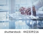 signing contract  double... | Shutterstock . vector #442339216