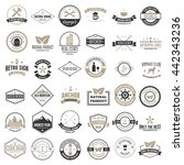 set of vector logotypes... | Shutterstock .eps vector #442343236