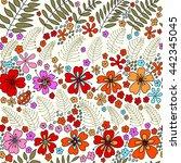 floral seamless pattern.... | Shutterstock .eps vector #442345045