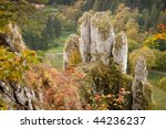 limestone rock forms at...   Shutterstock . vector #44236237