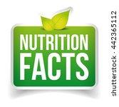 nutrition facts button vector   Shutterstock .eps vector #442365112