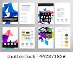 geometric cover background ... | Shutterstock .eps vector #442371826
