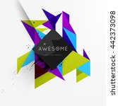 geometric vector background.... | Shutterstock .eps vector #442373098