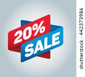 20  sale arrow tag sign icon.... | Shutterstock .eps vector #442373986