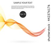 abstract smooth color wave...   Shutterstock .eps vector #442376176