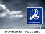 new european union road sign... | Shutterstock . vector #442381858