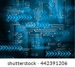 digital data background  blue...   Shutterstock .eps vector #442391206