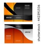 professional business trifold... | Shutterstock .eps vector #442391536