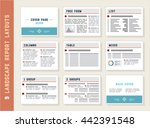 report layouts  document... | Shutterstock .eps vector #442391548