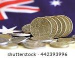 australian dollars with... | Shutterstock . vector #442393996