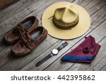 boy scout uniform | Shutterstock . vector #442395862