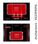 brochure mock up design...   Shutterstock .eps vector #442399096