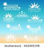 summer design elements and...   Shutterstock .eps vector #442405198