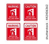 warning caution sign vector set ... | Shutterstock .eps vector #442406362