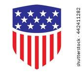 usa flag shield icon logo...   Shutterstock .eps vector #442411282