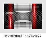 tri fold brochure and catalog... | Shutterstock .eps vector #442414822