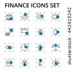 finance icons set  smart thin... | Shutterstock .eps vector #442415242