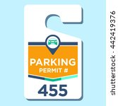 paid business parking permit | Shutterstock .eps vector #442419376