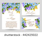 abstract flower background with ... | Shutterstock .eps vector #442425022